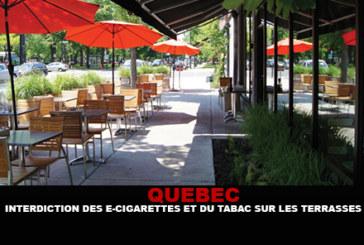 QUEBEC: איסור טבק וסיגריות אלקטרוניות על טרסות.