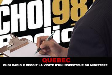 QUÉBEC: Το Choi Radio X επισκέπτεται ένας επιθεωρητής υπουργείου.