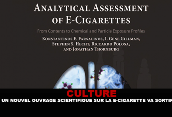CULTURE : Un nouvel ouvrage scientifique sur la e-cigarette va sortir.