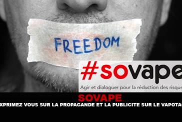 SOVAPE: להביע את עצמך על תעמולה ופרסום על vaping!
