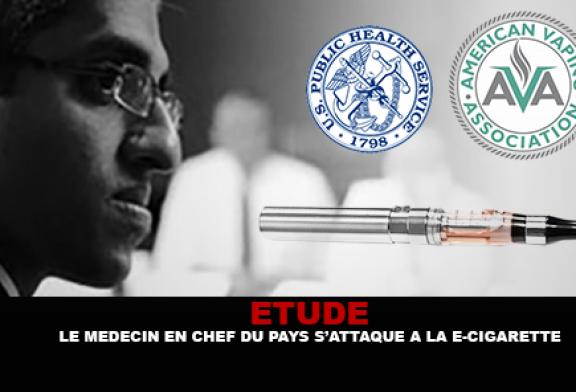 ETUDE : Le Médecin en chef des États-Unis s'attaque à la e-cigarette