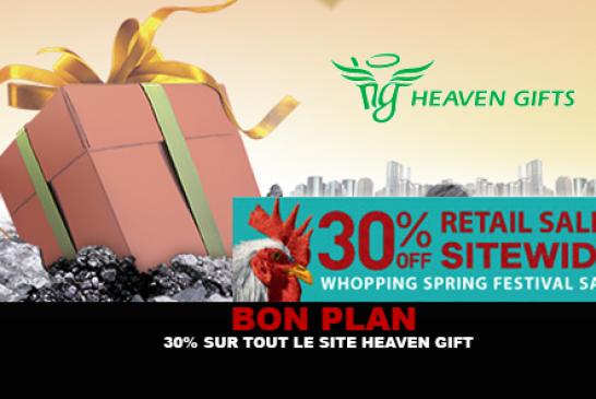 BON PLAN : 30% sur tout le site Heaven Gift jusqu'au 3 Février