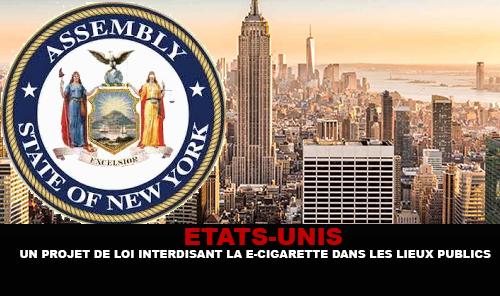 ÉTATS-UNIS : New-York adopte un projet de loi interdisant la e-cigarette dans les lieux publics.