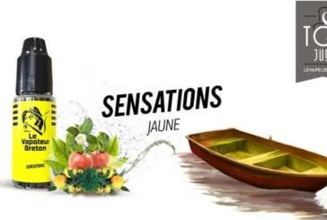 REVUE : JAUNE ( GAMME SENSATIONS ) PAR LE VAPOTEUR BRETON