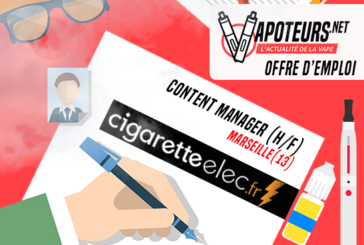 OFFERTA DI LAVORO: Content Manager (H / F) - Cigaretteelec - Marseille (13)