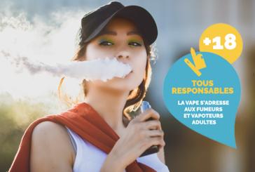 """COMUNICATO STAMPA: La Confederazione dei tabaccai e """"France Vapotage"""" lancia una campagna """"The vape is for adults"""""""